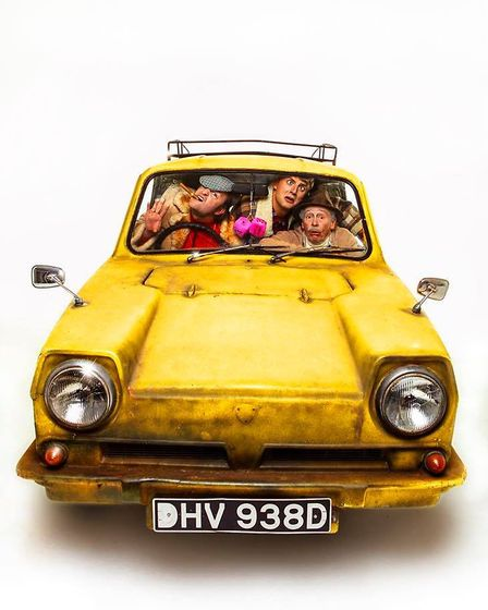 Ryan Hutton (centre) plays Rodney Trotter in the new musical production of Only Fools and Horses. 1