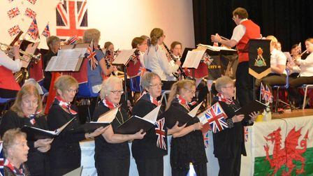 The City of Ely Military Band performed a patriotic concert at Ely College on Sunday (October 14) in
