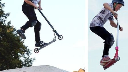 Youngsters enjoying the recently opened skate park at Haddenham. PHOTO: Gill Marchant