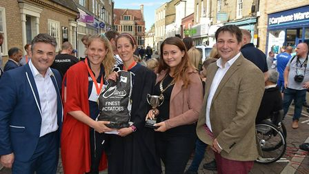 Sixteen teams battled it out in Ely at the weekend for the annual potato race over the quarter-a-mil