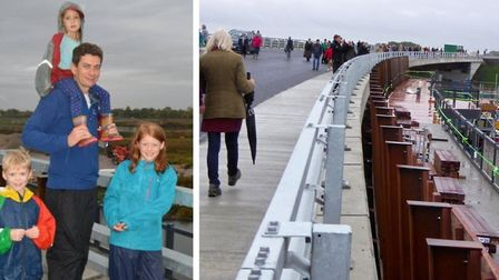 Hundreds walked the Ely by pass ahead of its official opening