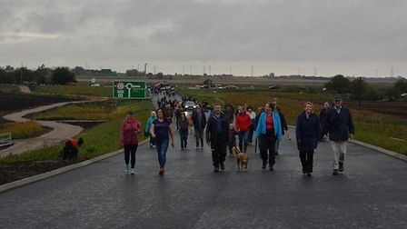 Hundreds took the chance to 'walk the bridge' as the county council allowed residents to see at firs