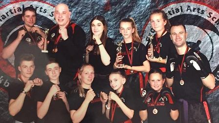 Littleport Kickboxing Club's success at competition. Picture: STUART HARRIS.