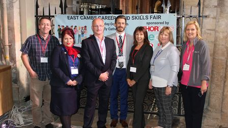 Representatives from Thorlabs, Tesco, East Cambridgeshire District Council, West Suffolk College, Sh