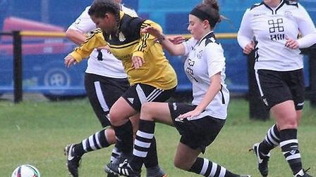 Naomi McGarvie gets passed the Cambs City Defence