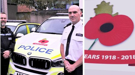 Our roads policing unit will feature a poppy on all of their marked patrol vehicles; it was the idea
