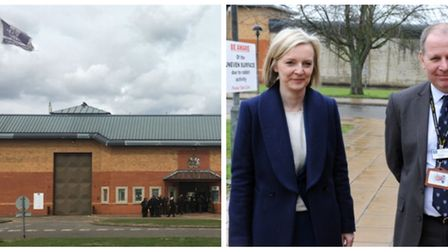 Liz Truss with Will Styles, governor, during her visit to HMP Whitemoor in March in 2017. She was th