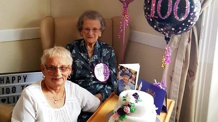 Celebrating her 100th birthday is Lilian Taylor of Whittlesey
