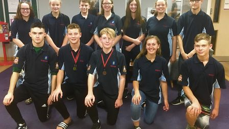 The cadets swimming team went up against 29 air cadet squadrons.