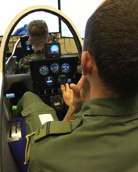 Training took place at 614 VGS -volunteer gliding squadron- as part of their progressive training sy