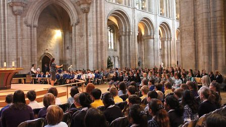 More than 200 children took part in the King's Ely's annual choral day. PHOTO: King's Ely