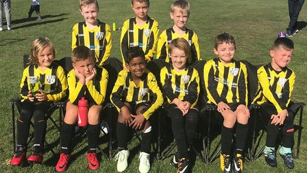 Soham United U8's played their first home game and welcomed Isleham United. Photo: Submitted