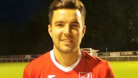 Injured Ely City star Nick Heap. Picture: ELY CITY FC