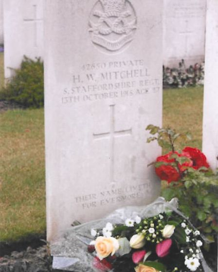 The grave of Herbert Walter Mitchell of March in Busigny Communal Cemetery in France. PHOTO: Francis