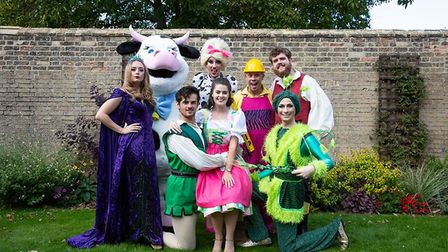 The cast of KD Theatre Productions' Jack and the Beanstalk. PHOTO: Mike Rouse.