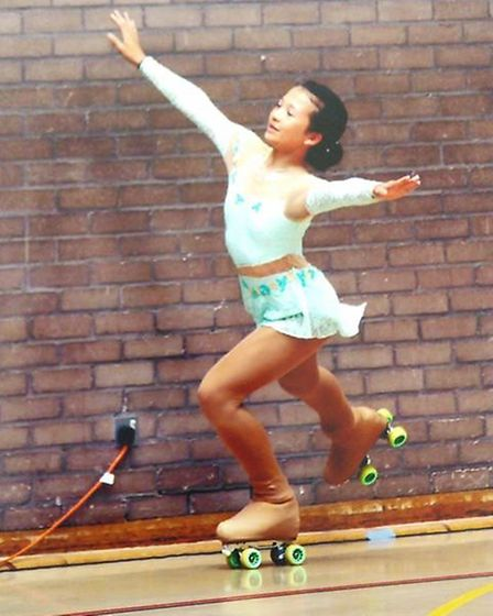 Amie Brown, aged 11 of Littleport (pictured), will represent Great Britain at a roller-skating compe