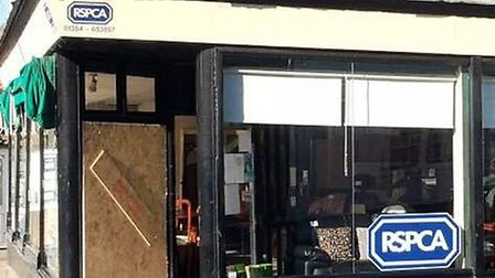 The front window of the RSPCA charity shop in High Street, March, was smashed in a suspected burglar