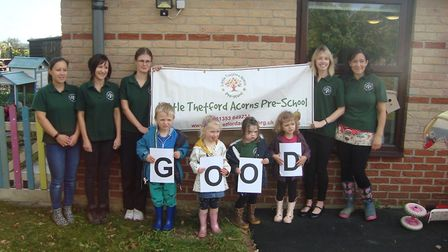 Little Thetford Acorns are given a good rating by Ofsted