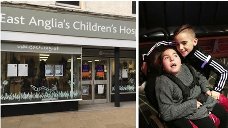 New EACH shop in Ely is to be opened by Liam Johnson, 12, from Soham, pictured with his sister Lucy
