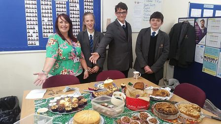 Turing House staff and student reps who hosted their Macmillian Coffee Morning. Picture: SUBMITTED