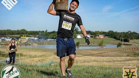 Ben Waters of Soham is more than half way through running 21 obstacle races in aid of Great Ormond S