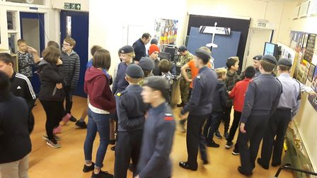 Ely Air Cadets open evening was a success as Mayor Mike Rouse also visited. Picture: SUBMITTED
