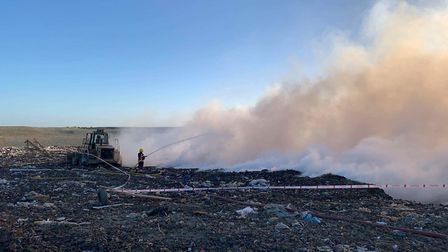 Crews were called at just after 6am this morning to the fire on Butt Lane. Photo: Cambs Fire