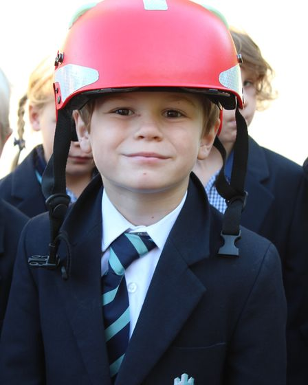 King's Ely Acremont pupils paying the Cambridgeshire Fire and Rescue Service a visit. Picture: KING'