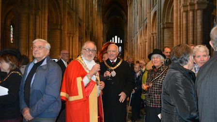 Farewell service for Bishop of Huntingdon David Thomson and Jean in Ely Cathedral. Picture: MIKE ROU