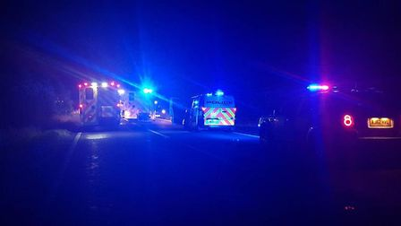 The A141 between March and Chatteris was closed last night (October 4) after the two-vehicle crash.