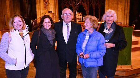 Lord John Bird gives a talk for Amnesty International at Ely Cathedral