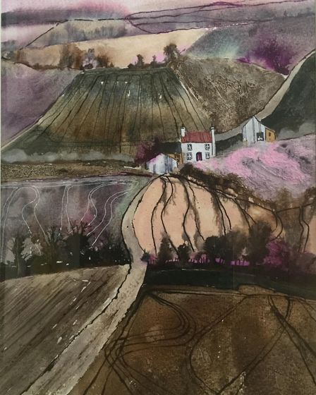 Work from the 2017 SEAW Selected Exhibition by Caroline Furlong (Winter Fieldlines)