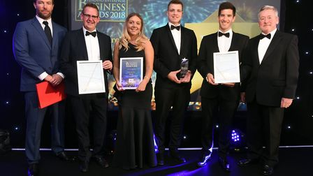Fenland Business Awards Commercial Business in the Community winner Metalcraft and finalists The Co