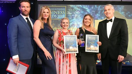 Fenland Business Awards Retailer of the Year winner Worzals and finalists Holiday with Us Group