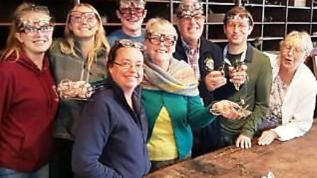 Littleport Lions Club members modelling some recently collected specs.