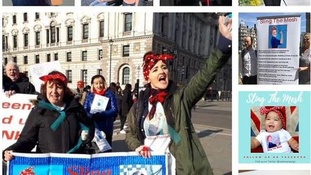 A 'sling the mesh' campaign snapshot illusrtrating just a fraction of the moments, protests and outr