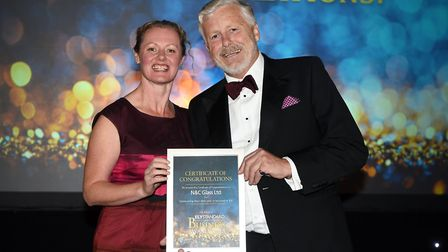 Ely Standard East Cambs Business Awards 2018Presentation to N & C Glass managing director Nick Flack