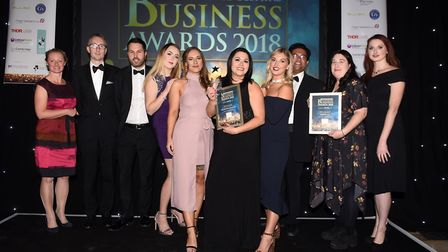 Ely Standard East Cambs Business Awards 2018New Business of the Year winners Busy Bee Recruitment Lt