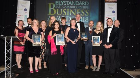 Ely Standard East Cambs Business Awards 2018Small Business of the Year winner Gourmet Brownie Ltd an