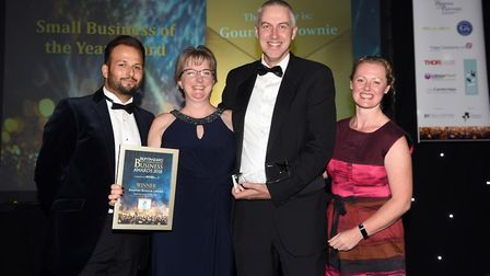Ely Standard East Cambs Business Awards 2018Small Business of the Year winner Gourmet Brownie Limite
