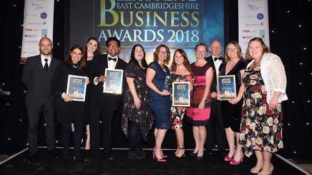 Ely Standard East Cambs Business Awards 2018Customer Service Award winner Atrium Fitness and finalis