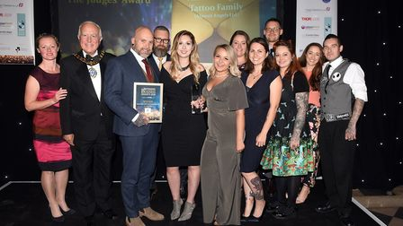 Ely Standard East Cambs Business Awards 2018The Judges Award winner Almost Angels Tattoo Family