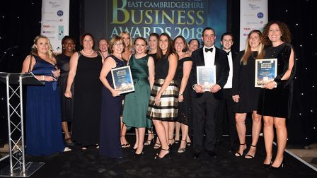 Ely Standard East Cambs Business Awards 2018Employer of the Year Life Fitness UK, winner, with fina