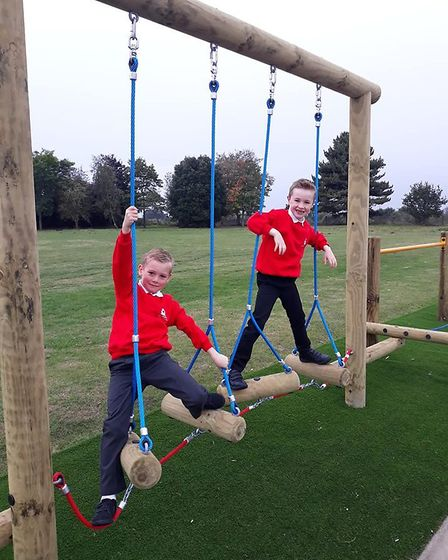 St Andrews CofE, in Sand Street, has seen the new trim trail installed from funds gained by PTA even
