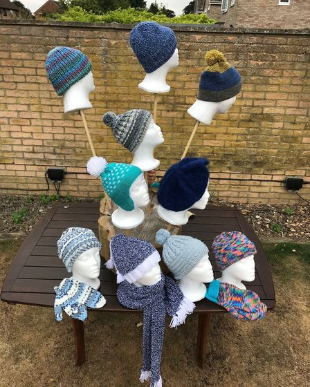 Nearly 200 woolly hats have been made for the annual Prickwillow Ploughing Festival. Picture: SUBMIT