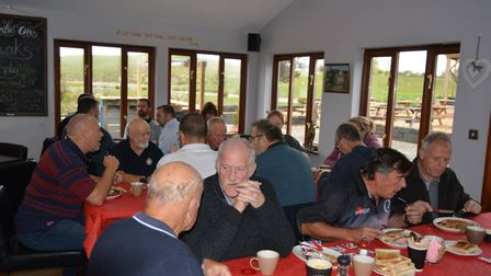 The launch of the breakfast cluib gave the ex-servicemen a chance to reminisce and share stories. Pi