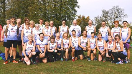 Fenland Running Club at the Frostbite Friendly League's 30th Anniversary Race. Picture: STEVE BENNIN