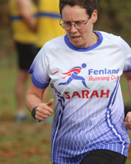 Sarah Rippon of the Fenland Running Club at the Frostbite Friendly League's 30th Anniversary Race. P