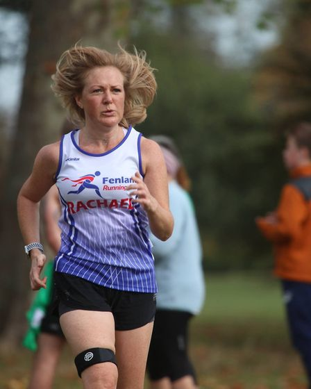 Rachael Nichols of the Fenland Running Club at the Frostbite Friendly League's 30th Anniversary Race