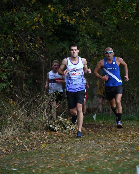Mark Williams of the Fenland Running Club at the Frostbite Friendly League's 30th Anniversary Race.